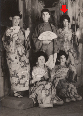 Elsie in an amateur production of 'The Mikado'